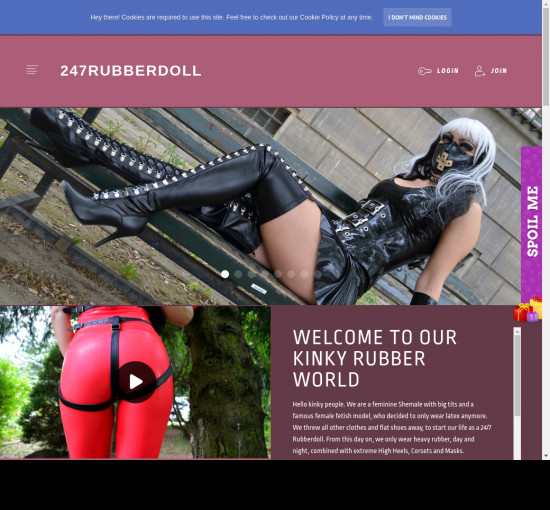 247 rubber doll